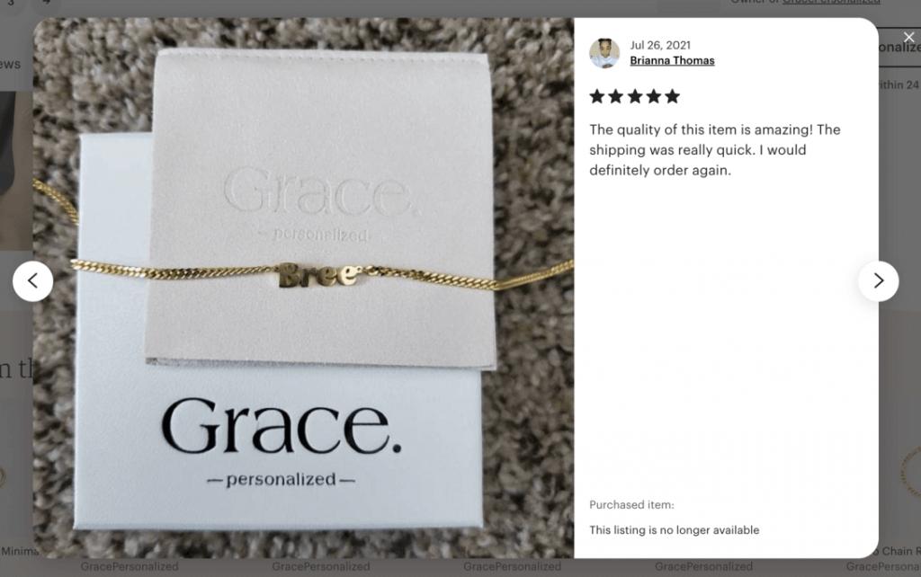Grace Personalized Etsy